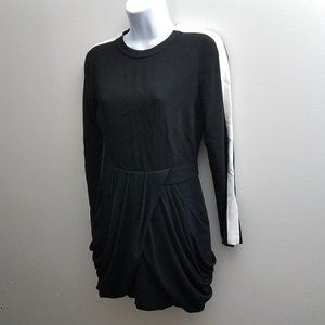 A.L.C. Dress Sz 6 Black White Long Sleeve Short